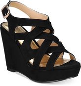 Thalia Sodi Maddora Platform Wide-Width Wedge Sandals, Only at Macy's