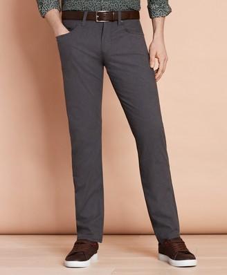 Brooks Brothers Heathered Stretch Cotton Five-Pocket Pants