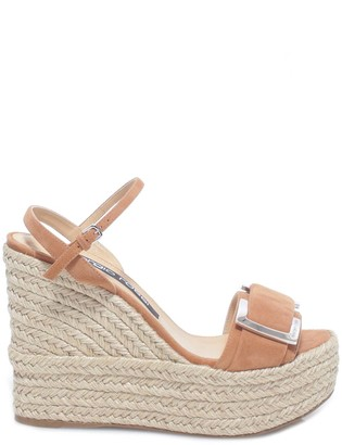 Sergio Rossi Buckled Wedge Sandals