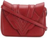 Elena Ghisellini stitched panel cross-body bag - women - Leather - One Size