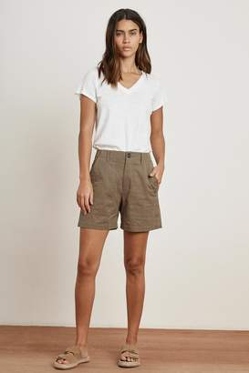 Velvet by Graham & Spencer KAELY SANDED TWILL CARGO SHORT
