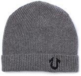 True Religion Light Grey Horseshoe Beanie Hat