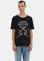 Gucci Men's Guccighost® Screen- Printed T-shirt In Black