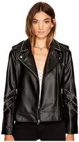 BB Dakota Jerilyn Studded Faux Leather Jacket Women's Coat