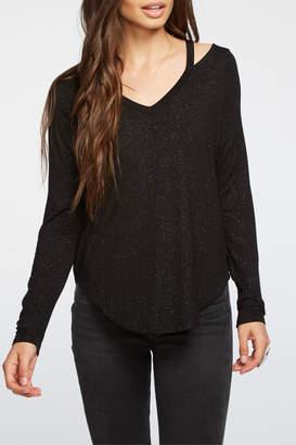 Chaser Shimmer Jersey L/S Vented Shoulder Top