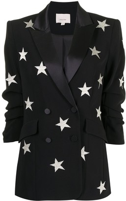 Cinq à Sept Lila embroidered star blazer
