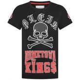 Philipp Plein Philipp PleinBoys Black Skull & Crossbones Print Top