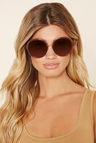 Forever 21 FOREVER 21+ Oversized Round Sunglasses