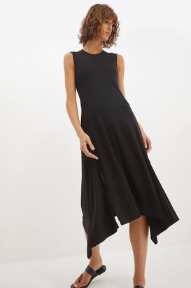 SABA Rachel Rib Neck Midi Dress