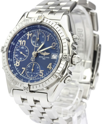 Breitling Blue Stainless Steel Chronomat Automatic A13050.1 Men's Wristwatch 40 MM