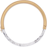 Isabel Marant Gold-tone marble-effect resin necklace
