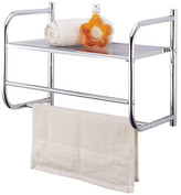 "Homebasix Wall 18.08"" W x 11"" Bathroom Shelf"