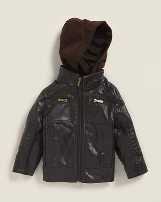 Urban Republic Infant Boys) Artsy Faux Leather Moto Jacket