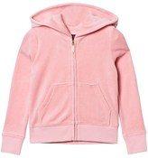 Juicy Couture Pale Peach Jewelled and Glitter Velour Hoody