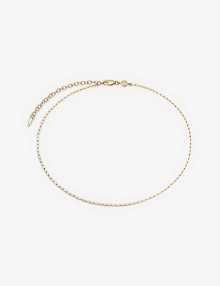 Missoma Box Link 18ct gold-plated vermeil silver choker necklace