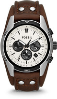 Fossil Coachman Chronograph Brown Leather Watch