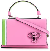 Emilio Pucci logo embossed foldover tote - women - Calf Leather - One Size