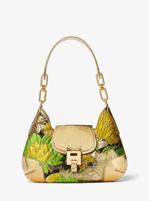 Michael Kors Bancroft Medium Floral Brocade Shoulder Bag
