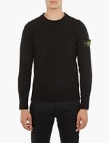 Stone Island Black Lamb's Wool Sweater