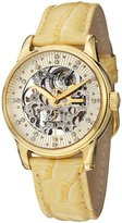 Stuhrling Original Women's 576.1135E15 Vogue Audrey Stella Skeleton Swarovski Crystal Gold Tone Watch