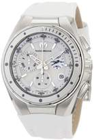 Technomarine Cruise Steel Women's Quartz Watch with White Dial Chronograph Display and White Leather Strap 110005L