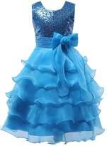 Shiny Toddler Little Girls Sequins Ruffled Flower Girl Birthday Pageant Dress 2-3T