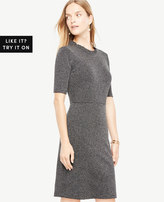 Ann Taylor Ruffle Neck Sheath Dress