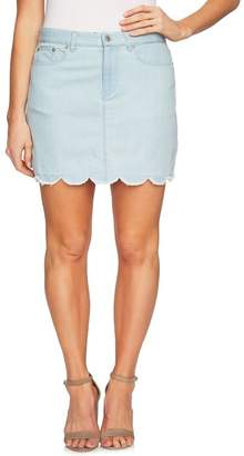 Cynthia Steffe CeCe by Scalloped Hem Denim Skirt (Regular & Plus Size)