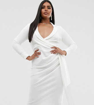 Asos DESIGN Curve fringe shirt midi dress