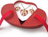 Avon Floating Hearts Necklace and Earring Gift Set