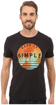 Life is Good Keep It Simple Palms Circle Newbury Tee