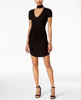Bar III Short-Sleeve Choker Dress, Created for Macy's