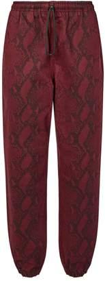 Alexander Wang Snake-Print Sweatpants