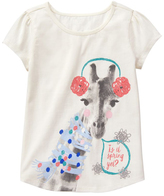 Gymboree Snow Bunny 'Is It Spring Yet?' Short-Sleeve Tee - Girls