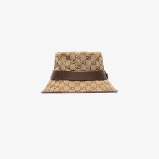 Gucci Brown GG fedora bucket hat
