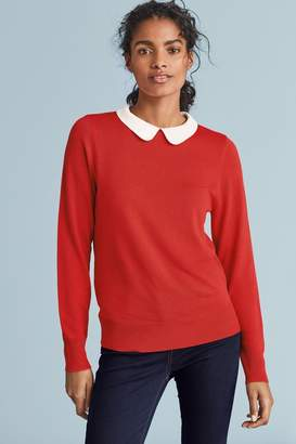 Next Womens Red Collar Layer Jumper - Red
