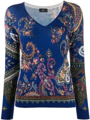 Etro Pailsey Print Knit Jumper