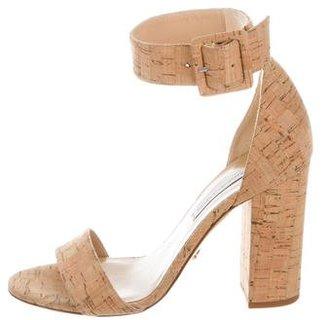 Diane von Furstenberg Cork High-Heel Sandals
