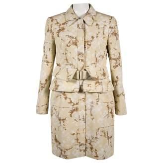 Alexander McQueen Beige Cotton Coats