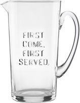 "Kate Spade All In Good Taste ""First Come First Served"" Pitcher"