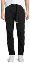 Helmut Lang Belted Nylon Trousers, Black