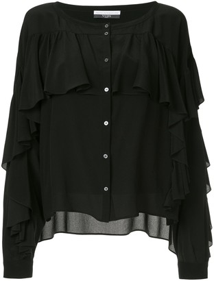 Faith Connexion ruffle buttoned blouse