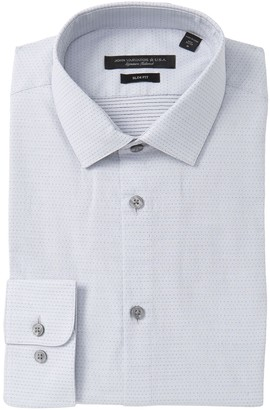 John Varvatos Rick Dot Pattern Slim Fit Dress Shirt