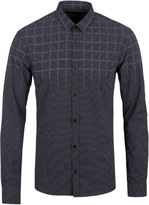Hugo Ero 3 Black Patterned Long Sleeve Shirt