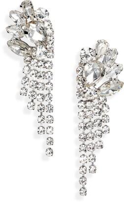 CRISTABELLE Crystal Mini Fringe Drop Earrings