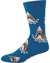 Socksmith Shark Attack Mens Crew Socks
