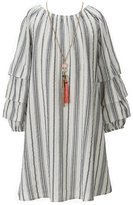 My Michelle Big Girls 7-16 Striped Tiered-Sleeve Dress