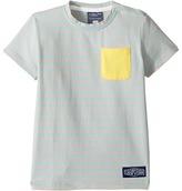 Toobydoo Aqua Stripe Pocket T-Shirt (Infant/Toddler/Little Kids/Big Kids)