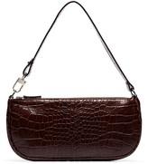 BY FAR crocodile-embossed shoulder bag