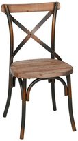 Joseph Allen Rustic Iron & Reclaimed Pine Wood Dining Chair (China)